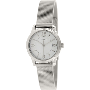 Timex Women's Classic T2P457 Silver Stainless-Steel Analog Quartz Watch
