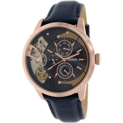 Fossil Men's Townsman ME1138 Blue Leather Japanese Quartz Fashion Watch