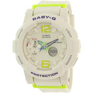 Casio Women's Baby-G BGA180-7B2 White Rubber Quartz Watch
