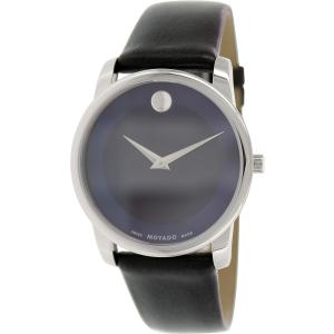 Movado Men's Museum 0606610 Blue Leather Swiss Quartz Watch