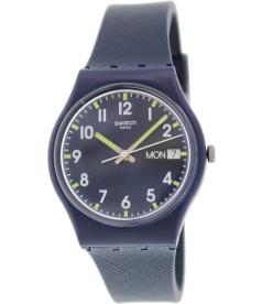 Swatch Women's Originals GN718 Blue Rubber Swiss Quartz Watch