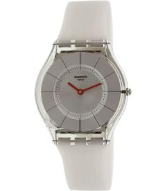 Swatch Women's Skin SFM129 Grey Rubber Swiss Quartz Watch