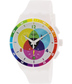 Swatch Men's Originals SUSW404 White Rubber Swiss Quartz Watch
