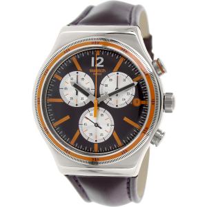 Swatch Men's Irony YVS413 Purple Leather Swiss Quartz Watch