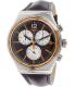 Swatch Men's Irony YVS413 Purple Leather Swiss Quartz Watch - Main Image Swatch