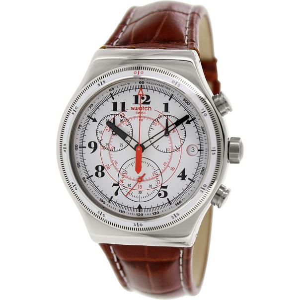 swatch s irony yvs414 white leather swiss quartz