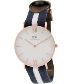 Daniel Wellington Women's Glasgow 0552DW White Nylon Quartz Watch
