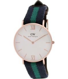 Daniel Wellington Women's Warwick 0553DW White Nylon Quartz Watch