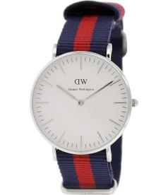 Daniel Wellington Women's Oxford 0601DW White Nylon Quartz Watch