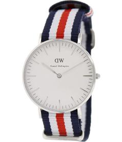 Daniel Wellington Women's Canterbury 0606DW White Nylon Quartz Watch