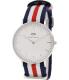 Daniel Wellington Women's Canterbury 0606DW Blue Nylon Quartz Watch - Main Image Swatch