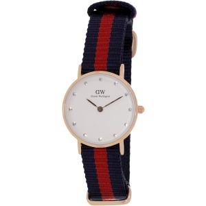 Daniel Wellington Women's Oxford 0905DW Blue Nylon Quartz Watch