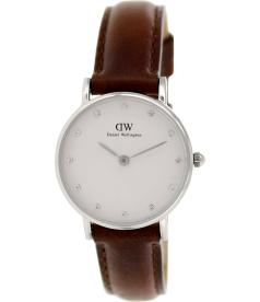 Daniel Wellington Women's St. Andrews 0920DW White Leather Quartz Watch