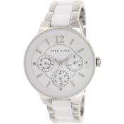 Anne Klein Women's AK-1629WTSV White Ceramic Quartz Watch