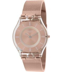 Swatch Women's Skin SFP115M Rose-Gold Stainless-Steel Swiss Quartz Watch