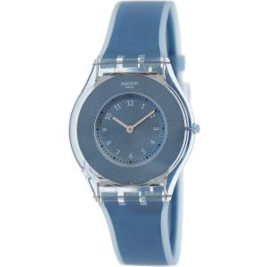 Swatch Women's Skin SFS103 Blue Silicone Swiss Quartz Watch