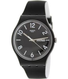 Swatch Men's Originals SUOB715 Black Silicone Swiss Quartz Watch