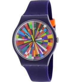 Swatch Men's Originals SUOV101 White Silicone Swiss Quartz Watch