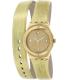 Swatch Women's Irony YSG135 Gold Leather Swiss Quartz Watch - Main Image Swatch
