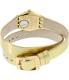 Swatch Women's Irony YSG135 Gold Leather Swiss Quartz Watch - Back Image Swatch