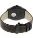 Swatch Men's Irony YWB401 Black Leather Swiss Quartz Watch - Back Image Swatch