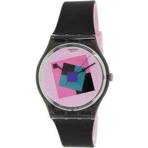 Swatch Women's Originals GA109 Black Rubber Swiss Quartz Watch