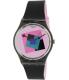 Swatch Women's Originals GA109 Black Rubber Swiss Quartz Watch - Main Image Swatch