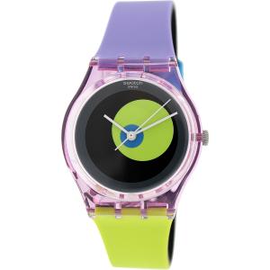 Swatch Women's Originals GP143 Multicolor Rubber Swiss Quartz Watch