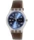 Swatch Men's Originals SUOK701 Brown Leather Leather Swiss Quartz Watch - Main Image Swatch