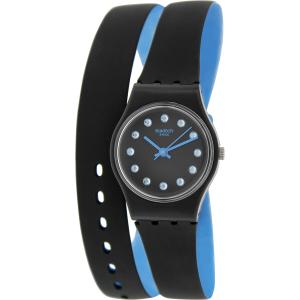 Swatch Women's Originals LB179 Black Rubber Swiss Quartz Watch