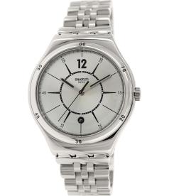 Swatch Women's Irony YWS406G Silver Stainless-Steel Swiss Quartz Watch