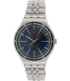 Swatch Men's Irony YWS402G Silver Stainless-Steel Swiss Quartz Watch