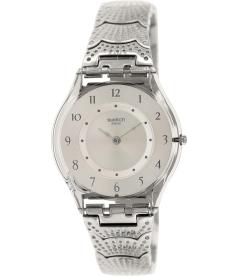Swatch Women's Skin SFM126G Silver Stainless-Steel Swiss Quartz Watch