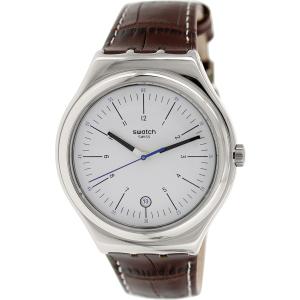 Swatch Men's Irony YWS401 Brown Leather Leather Swiss Quartz Watch