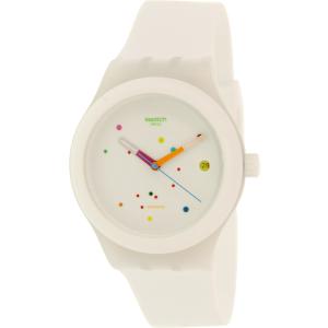 Swatch Women's Sistem51 SUTW400 White Rubber Swiss Automatic Watch
