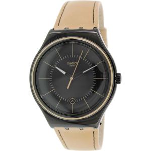 Swatch Men's Irony YWB400 Brown Leather Leather Swiss Quartz Watch
