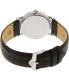 Bulova Men's Classic 96B217 Silver Leather Quartz Watch - Back Image Swatch