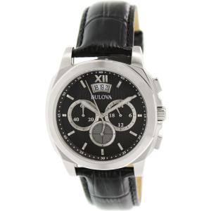 Bulova Men's Classic 96B218 Black Leather Quartz Watch
