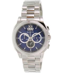 Bulova Men's Classic 96B219 Blue Stainless-Steel Quartz Watch