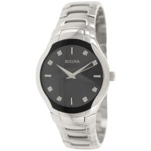 Bulova Men's Diamond 96D117 Silver Stainless-Steel Quartz Watch