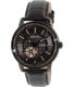 Bulova Men's Automatic 98A139 Black Leather Automatic Watch - Main Image Swatch