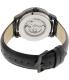 Bulova Men's Automatic 98A139 Black Leather Automatic Watch - Back Image Swatch