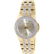 Bulova Men's Crystal 98B174 Gold Stainless-Steel Quartz Watch