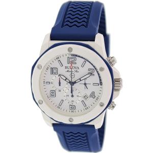 Bulova Men's Sport 98B200 Blue Rubber Quartz Watch