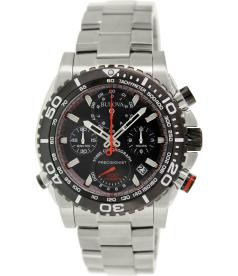 Bulova Men's Precisionist 98B212 Black Stainless-Steel Quartz Watch