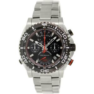 Bulova Men's Precisionist 98B212 Silver Stainless-Steel Quartz Watch