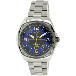 Bulova Men's Precisionist 98B224 Silver Stainless-Steel Quartz Watch