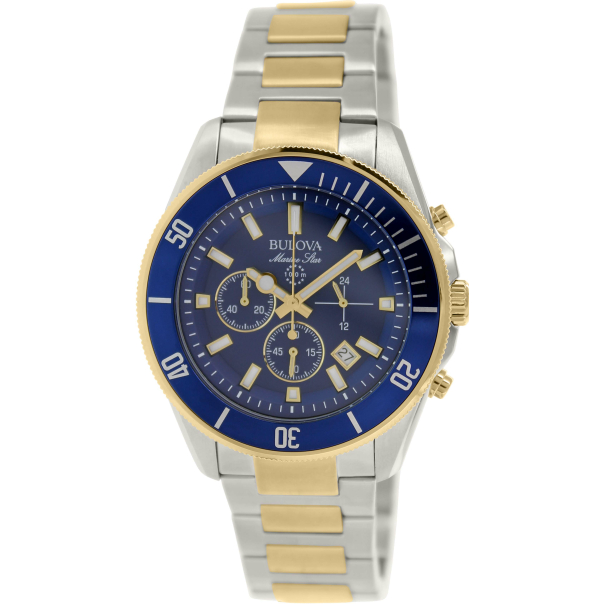 bulova s sport 98b230 blue stainless steel quartz