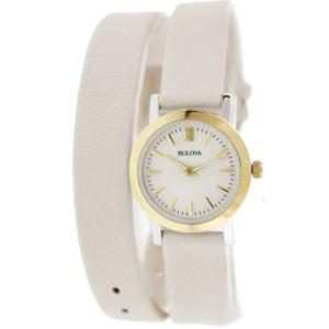 Bulova Women's Classic 98L193 Beige Leather Quartz Watch
