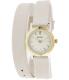 Bulova Women's Classic 98L193 Beige Leather Quartz Watch - Main Image Swatch